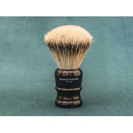 Shaving brush Maseto Shaving (pure badger / black handle) 24 mm