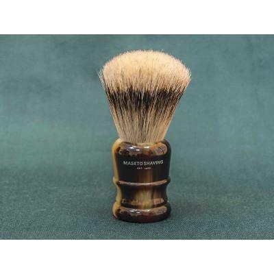 Shaving brush Maseto Shaving (pure badger / imitation horn) 24 mm