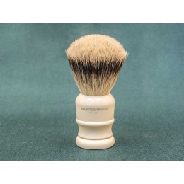 Shaving brush Maseto Shaving (pure badger / imitation ivory) 24 mm