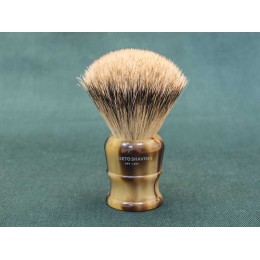 Shaving brush Maseto Shaving (pure badger / imitation horn) 24 mm
