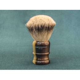 Shaving brush Maseto Shaving (pure badger / imitation horn) 26 mm