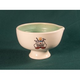 Shave bowl (white - turquoise)