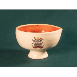 Shave bowl (white - orange)