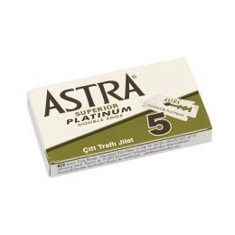 ASTRA Platinum Double Edge (DE) Razor Blades, 5pcs