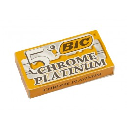 BIC Chrome Platinum Double Edge (DE) Razor Blades, 5pcs