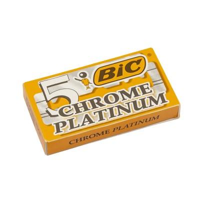 BIC Chrome Platinum Double Edge (DE) Razor Blades, 5pcs