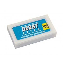 DERBY Extra Blue Double Edge (DE) Razor Blades, 10pcs