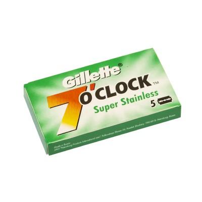 GILLETTE 7o'Clock Super Stainless Double Edge (DE) Razor Blades, 5pcs