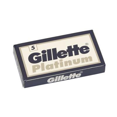 GILLETTE Platinum Double Edge (DE) Razor Blades, 5pcs