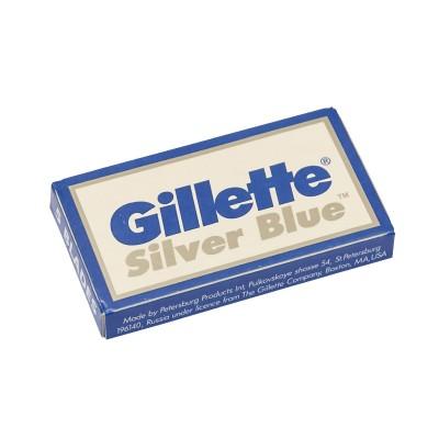 GILLETTE Silver Blue Double Edge (DE) Razor Blades, 5pcs