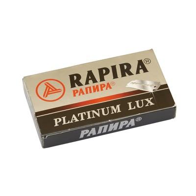 RAPIRA Platinum Lux Double Edge (DE) Razor Blades, 5pcs