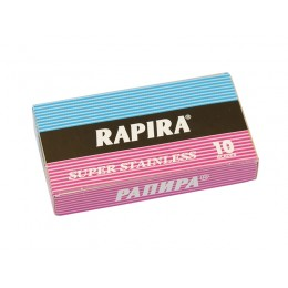 RAPIRA Super Stainless Double Edge (DE) Razor Blades, 10pcs
