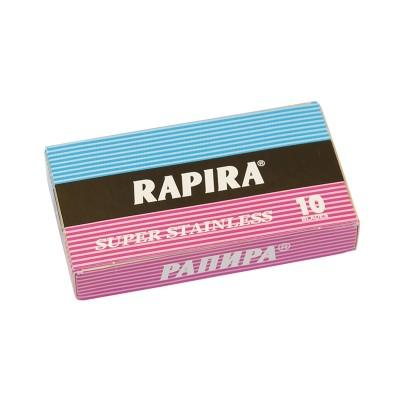 RAPIRA Super Stainless Double Edge (DE) Razor Blades, 10pcs