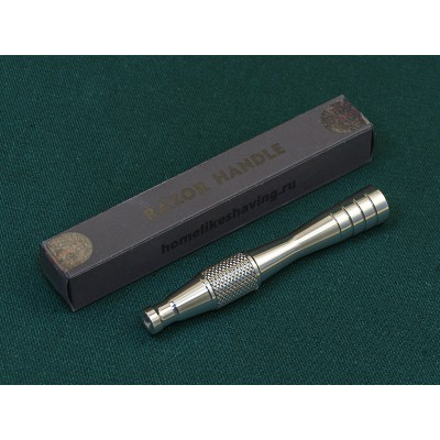 """DE razor handle """"Voevoda"""" (titanium)"""