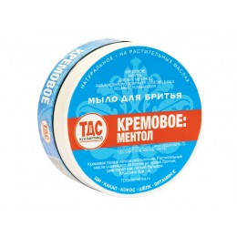 "TDS ""Cream: menthol"" shaving soap, 100ml"